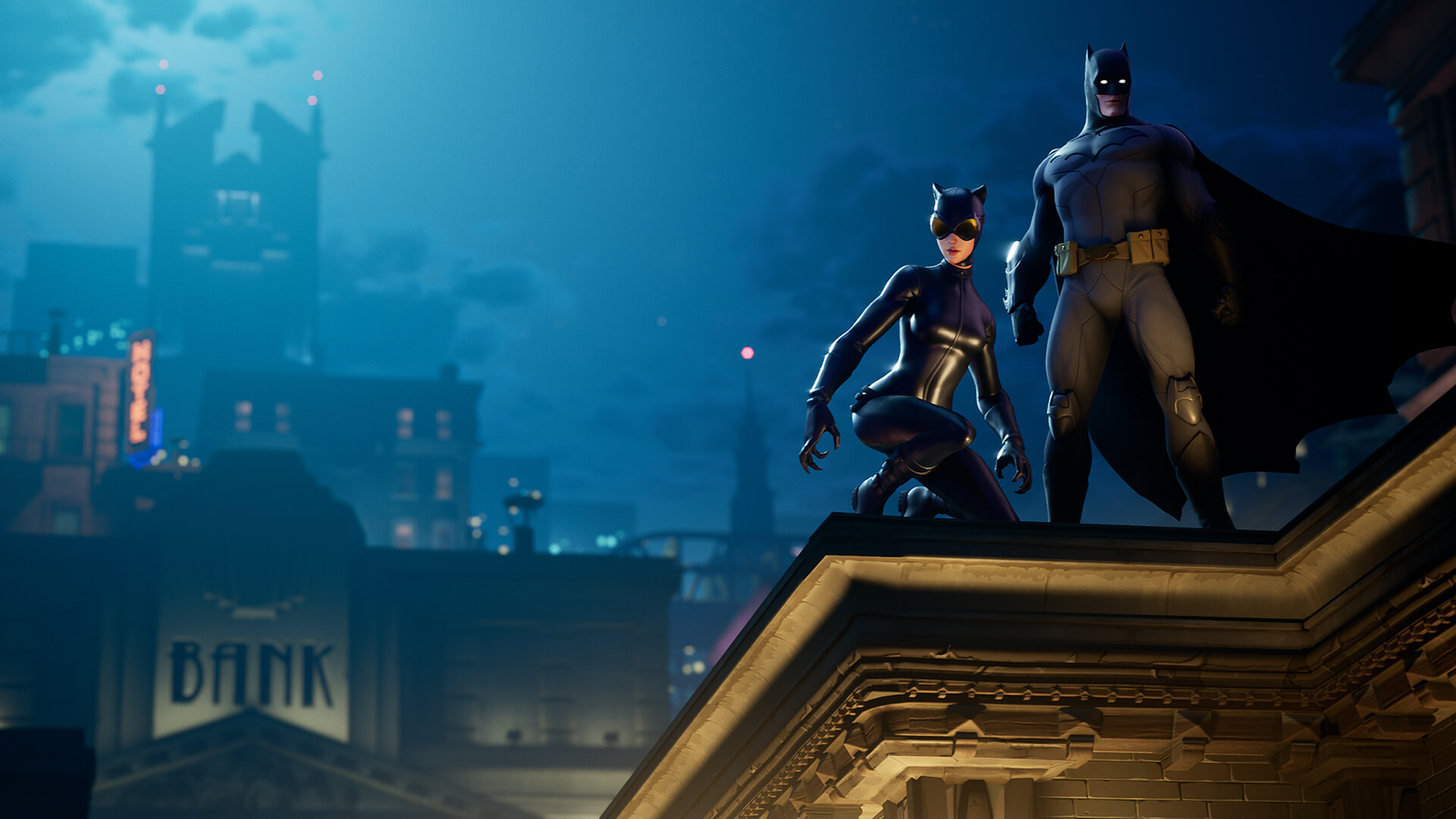 Catwoman and Batman in Fortnite