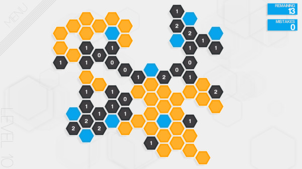 Hexcells Puzzle Game screenshot
